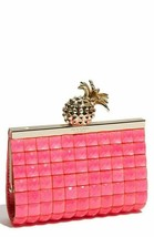 Kate Spade Lella PXRU2387 Pineapple Frame Clutch Pink Lemondrop Bag - $150.00