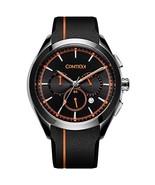 COMTEX Men' s Quartz Watch Sports Resistant Waterproof Orange Band Watch - $79.22