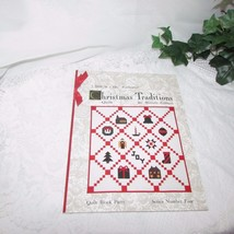 QUILT IN A DAY CHRISTMAS TRADITIONS SEWING PATTERN BOOK 1992 QUILTING SE... - $7.42