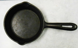 """CAST IRON SKILLET 6"""" ROUND JAPAN WITH A U AND 2 # CAN'T READ - $39.60"""