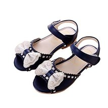 Children Sandals Summer Girls Sandals Princess Shoes Bow Girls Shoes Baby Shoes image 2