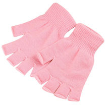 Light Pink 2 Pair Unisex Soft Half Finger Gloves Warm Knitted Mittens Fi... - $18.50 CAD