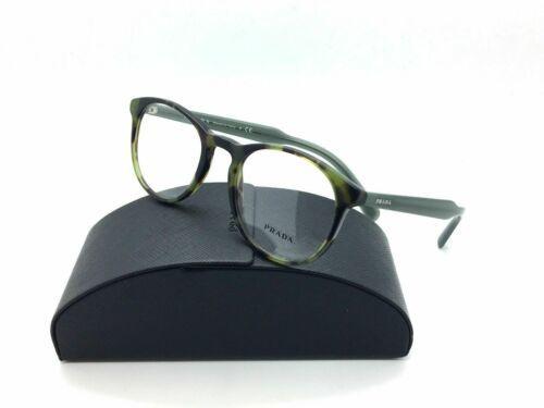 Prada Eyeglasses Optical PR19SV LAB-1O1 Green Havana 50mm w/Case