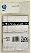 ONN 90 Minute audio Cassettes High-Output Blank Cassette Recording Tapes (6) image 2