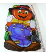 Jack O Lantern  Party Time Scarecrow Poster 1985 USA Decoration - £9.28 GBP