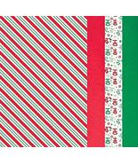 """Christmas Stripes Tissue Paper Gift Wrappers, 20"""" x 20"""" - 30 Pcs. - $10.84"""