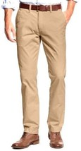 Tommy Hilfiger Men's Tailored Fit Flat Front Chino Pants Incense Khaki 38x34 - $23.75