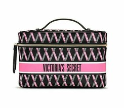 VICTORIA'S SECRET Diamond Logo Weekender Train Case& Makeup Bag Travel Organizer - $34.64