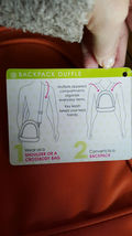 Beyond a Bag 3 Bags in One Backpack, Sling and Duffel Bag NWT image 7