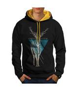 Nature Tree Art Animal Sweatshirt Hoody  Men Contrast Hoodie - $23.99+