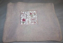 Child of Mine GIRL Baby Blanket Carters Pink Chenille BUNNY Satin Patch Security - $48.21