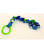 Infant's Adjustrable strap-holds sippy cups, toys-Blue Disco Dot WOW! - $9.99