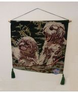 Dog Tapestry Wall Hanging Golden Retriever Puppies Art Puppy Pet 17x15 NEW - $9.99