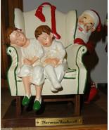 NORMAN ROCKWELL Santa NEW Christmas Sleeping Children wingback Chair FTD - $25.00
