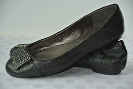 NEW Calvin Klein Raysana Womens Sz 8 M Black Leather Loafers Ballet Flats - $39.59