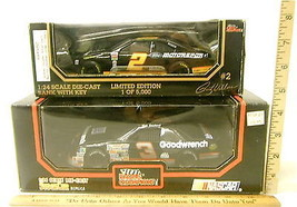 1995 Racing Champions Ford #2 Wallace Bank + 1992 Chevy #3 Earnhardt Sr 1:24 NIB - $35.76