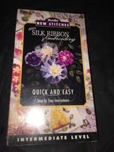 Silk Ribbon Embroidery Video Intermediate New Stitches Instruction Bucilla - $21.34