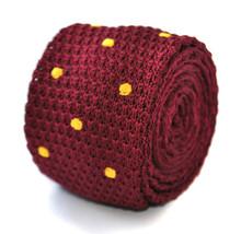 GRANATA E ORO a pois aderente maglia Cravatta da Frederick Thomas ft2003