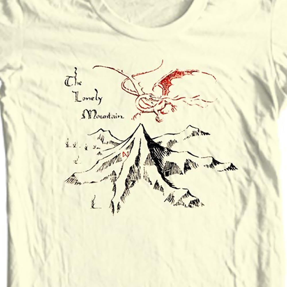 The hobbit t shirt the lonely mountain middle earth for sale online t shirt stores