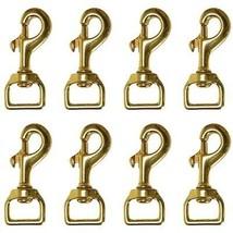 Set of 8 Hilason Swivel Eye Bolt Snap Clip Hooks Solid Brass U-TY08 - $39.55