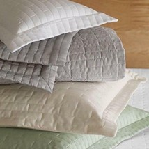 Sferra Sesto Grey Euro Pillow Sham Fine Italian Linens 4235  - $1.154,96 MXN