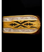 Southwestern money clip / Vintage spanish damascene design - Grandfather... - $95.00