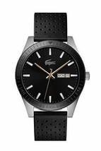Lacoste Men's Legacy Stainless Steel Quartz Watch with Leather Strap - $187.00