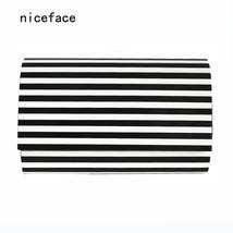er handbag noble women messenger bag unique wallet vintage Black White S... - $50.56