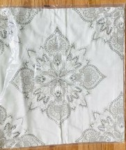 Pottery Barn Holly Pillow Cover Ivory 24 sq Embroidered Medallion New - $79.50