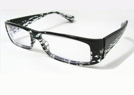 Alain Mikli Eyeglasses Frame Black and Clear Handmade 56-14-135 Pact A0495 MOD - $96.03