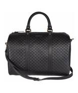 NEW Gucci Black Mens Guccissima Leather Boston Large Satchel Travel Shou... - $1,176.63