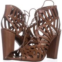 Jessica Simpson Emagine Lace Up Sandals 761, Burnt Umber, 8.5 US / 38.5 EU - $43.19