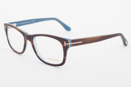 Tom Ford 5147 056 Striped Havana / Dark Blue Eyeglasses TF5147 056 52mm - $165.62