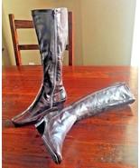 AEROSOLES TIDEAWAY BOOTS Womens HeelS Brown Zippered DRESS TALL 7.5 #137 - $25.19