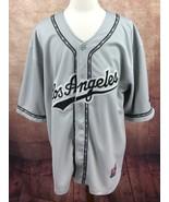 Pro Sport Los Angeles Baseball Jersey Short Sleeve Black Gray Shirt Men'... - $16.79