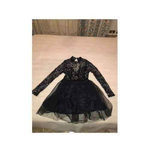 Fashion Sleeve Lace High Waist Women Skater Dress