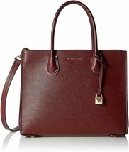 MICHAEL Michael Kors Mercer Large Pebbled Accordion Tote (Oxblood) - $368.00