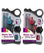 MATHS SET CARRY CASE BACK TO SCHOOL - 1 PACK - $4.06