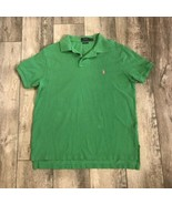 Polo Ralph Lauren Custom Fit Large SS LIME GREEN PINK PONY - $10.89