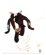 Dolly Estrelle Fancy Goat Kid Beautiful Vibrant 11x14 Art Print Poster - $14.99