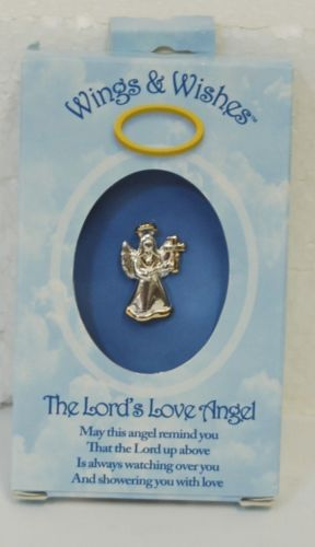 DM Merchandising Wings Wishes Lord's Love Angel Silver Gold Colored