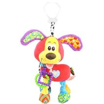 Brand Bed Stroller Hanging 37cm Dog Plush Vibration Toy Rattle Teether N... - $26.00