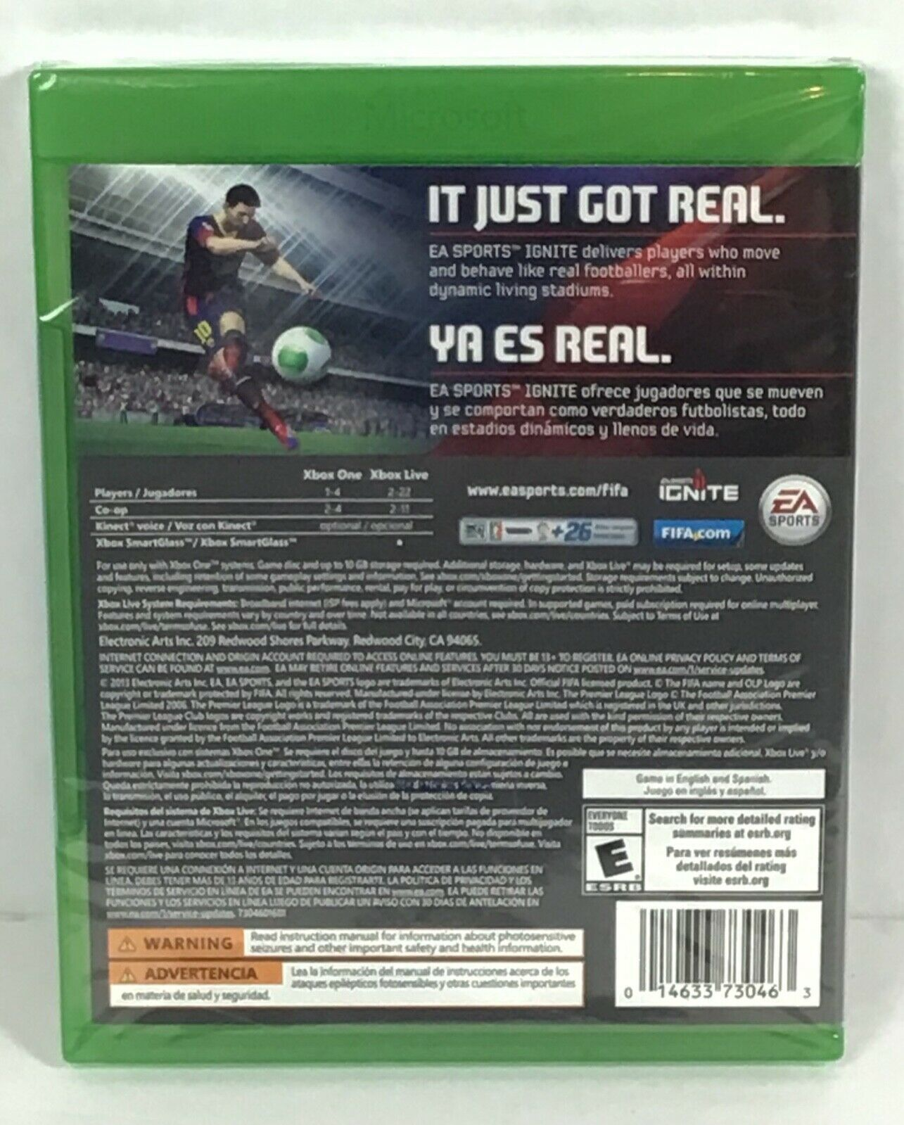 XBOX ONE FIFA 14 ⚽️  Foootball Video Game Complete New EA Sports Running B29-20