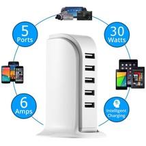 5 USB Port Charger Desktop Rapid Station Charging For Mobile Multi UK EU... - $16.99