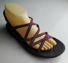 Jambu Womens Burgundy Breathable Sandals Size 8 - $24.74