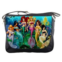 Messenger Bag Beautiful Ariel Little Mermeid Ocean Girl With Friends Di... - $32.00