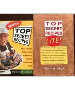 Top Secret Recipes More and Top Secret Recipes Lite Todd Wilbur 2 Paperb... - $9.85