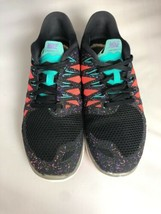 NIKE FREE 5.0 Running Gym Fitness Shoes Black Hyper Jade Galaxy Womens Size 8.5 image 2