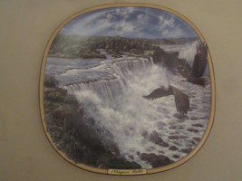 BALD EAGLE collector plate NIAGARA FALLS Thundering Waters #1 FRANK D MI... - $20.00