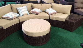 Outdoor Sofa 6 pc Sectional Wicker Brown Las Vegas Patio Furniture And Garden image 5